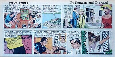 Steve Roper by William Overgard - full color Sunday comic page - July 5, 1959