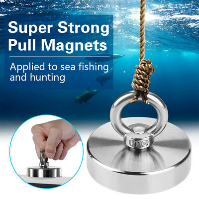 75mm Recovery Magnet Strong Sea Fishing Treasure Hunting Metal Detector 160KG