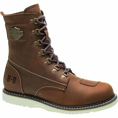 Mens Harley Davidson Lottman Biker Riding Zip-Up Ankle Boots Sizes 6 to 12