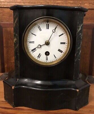 Rare Antique 19Th C French Gve Rey Jne Brevete Wooden Ebonized Mantle Clock