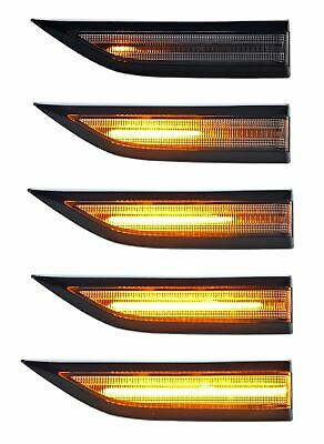 Vw T6/Caddy Led Smoked Dynamic Sequential Side Repeater Indicator Lights