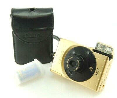 Canon IXUS IXY Gold 60th Anniversary Limited Edition APS camera w/ film, Bling!