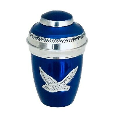 Well Lived® Blue Birds Flying Small Keepsake Cremation Urn for human ashes