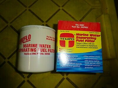 0502905 Johnson//Evinrude//OMC//BRP OEM Spin-On Water Separating Fuel Filter 25 Micron 502905