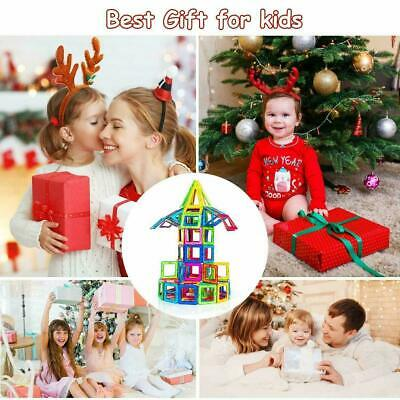 30-188pcs Magnetic Toy Building Blocks Set 3D Tiles DIY Toys Great Gift Kids Lot
