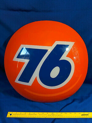 """Union 76 VTG Advertising Sign Gas Oil Service Station 20"""" Half Ball Bubble 3D"""