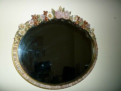 """LARGE VINTAGE 1930's ENGLISH COUNTRY """"BARBOLA"""" SHABBY CHIC WALL MIRROR"""
