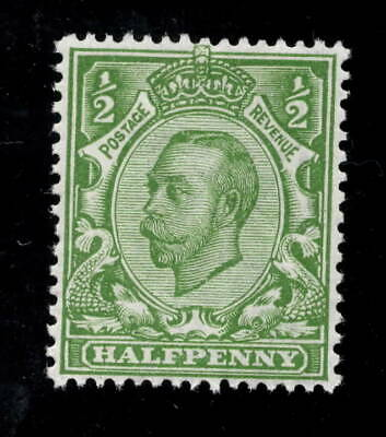 SG344 variety N5(4) 1/2d yellow green. Unmounted mint with RPS certificate.