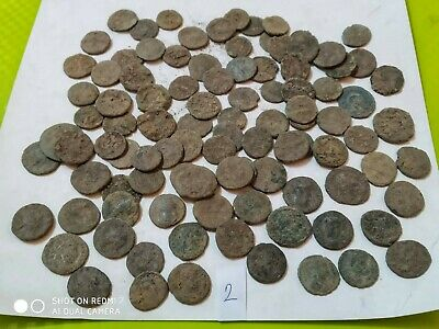 Nice Lot of 100 ancient Roman Bronze Coins  Folis AE2AE3AE4 lot 2 Good quality