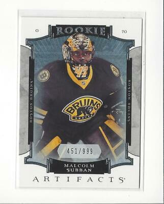 2015-16 Artifacts #180 Malcolm Subban RC Rookie Bruins Golden Knights /999