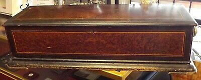 """19th C. Massive Antique Airs Swiss Made Large Cylinder 8 Tune Music Box. 33.50"""""""