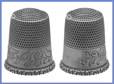Antique Sterling Silver Thimble 'Two Birds on a Branch' *C.1900s