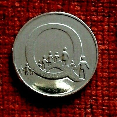 2018 A-Z 10p alphabet coin Q = QUEUE  Uncirculated from a sealed bag