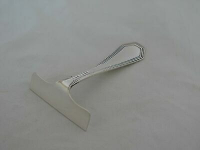 Antique Dominick & Haff Sterling Silver Queen Anne Plain Baby Food Pusher