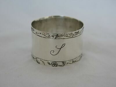 Small Antique Sterling Silver Napkin Ring