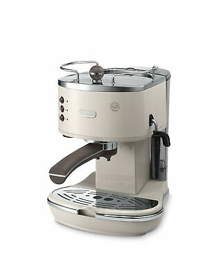 De'Longhi Vintage Icona ECOV311BG Traditional Pump Espresso Machine - Cream