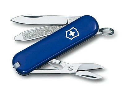 Victorinox Swiss Army Classic SD Cobalt Blue 58 mm Tube Pocket Knife 58002 NEW