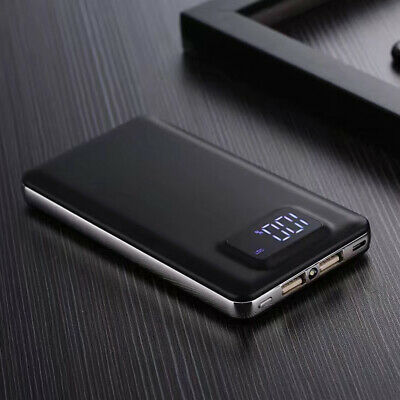 AU Portable 2 USB 50000mAh LCD Power Bank External LED Battery Charger For Phone