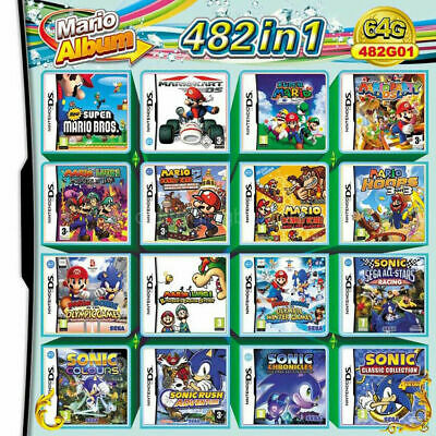 482 In 1 Video Game Cartridge Console Card For NDS NDSL 2DS 3DS NDSI 3DSLL US