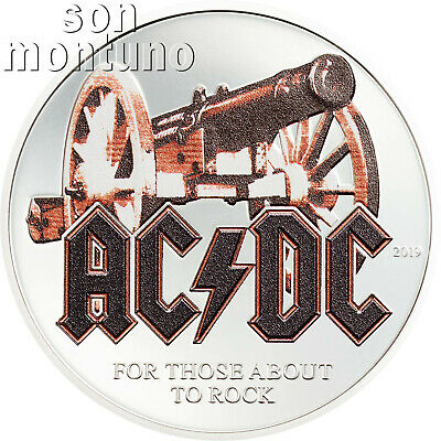 FOR THOSE ABOUT TO ROCK - AC/DC 1/2 Oz Silver Proof Coin - 2019 Cook Islands $2