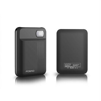 FDGAO 50000mAh 2 USB LCD Mini Power Bank Backup Battery Charger For Mobile Phone