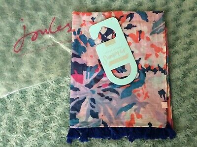 Joules Womens Sirena Sarong With Tassels in PINK FLORAL in One Size