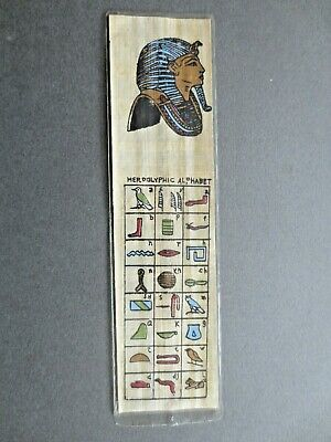 BOOKMARK Papyrus TUTANKHAMUN Ancient Egypt Egyptian Hieroglyphic Alphabet