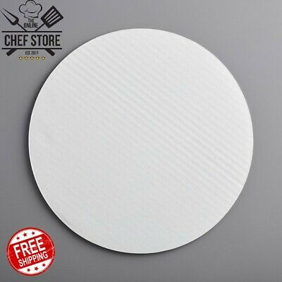 """12"""" Corrugated Grease Resistant White Cake Circle Round Recyclable 100 Case"""