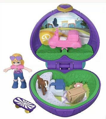 NEW Polly Pocket Tiny Places Picnic Compact Play Set Portable Ages 4+ stuffer
