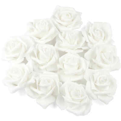Factory Direct Craft White Artificial Rose Heads | 36 Pieces