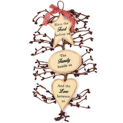 Factory Direct Craft Primitive Food, Family, Love Hanger | 2 Pieces
