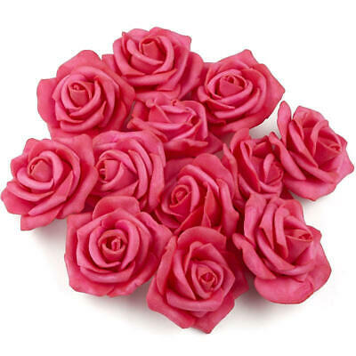 Factory Direct Craft Fuchsia Artificial Rose Heads | 36 Pieces