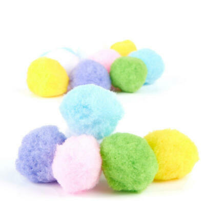 Factory Direct Craft Pastel Craft Pom Poms | 90 Pieces