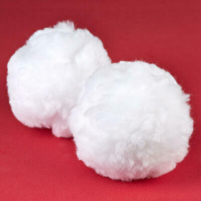 Factory Direct Craft Jumbo White Craft Pom Poms | 6 Pieces