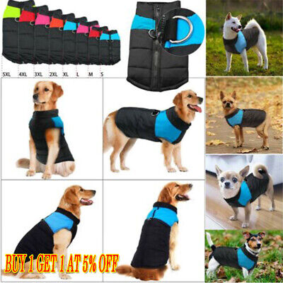 Dog Clothes Waterproof Warm Padded Pet Coat Vest Jacket Spring Autumn Winter USA