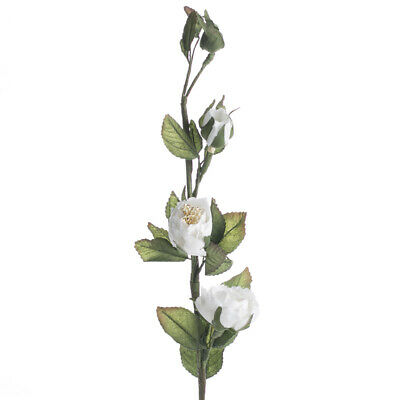 Factory Direct Craft Group of 6 Cottony White Artificial Rose Stems