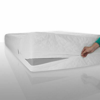 Bed Bug Dust Mite Cotton Zippered Mattress Protector- Queen Machine Washable