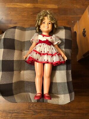 """Ideal 16/""""  RED doll shoes for vinyl Shirley Temple  1972"""