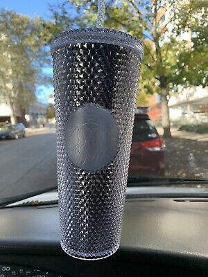 NEW Winter Holiday Starbucks 2019 Venti Bling Platinum Studded Tumbler 24oz Cold