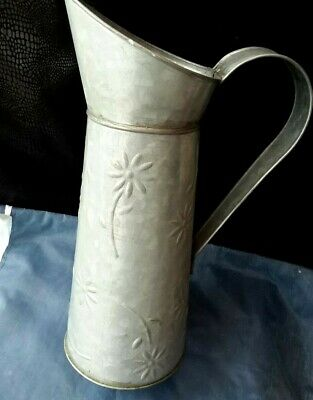 Vintage Galvanized Watering Can for Home and Garden Watering Jug