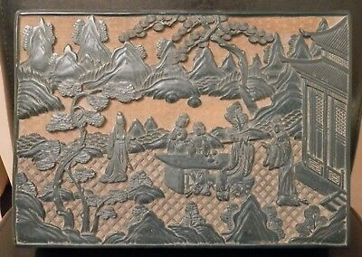 OLD ANTIQUE CHINESE China HAND Carved GREEN CINNABAR Lacquered Large Box artwork