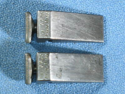 Pair of Vintage STARRETT No. 298 Key-Seat Clamps USA Machinist Tools