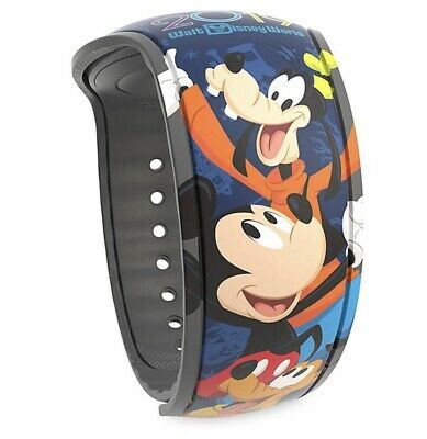 Disney Parks 2019 Mickey Mouse & Friends Magic Band 2 WDW Pluto Goofy Chip NEW