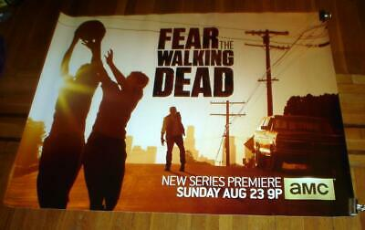 AMC TV FEAR THE WALKING DEAD 5FT Subway POSTER Zombies  Walker 2015 SEASON 1 TWD