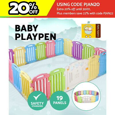 Baby Playpen Interactive Play Pen Safety Gate Kids Toddler Fence Room 19 Panels