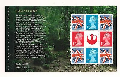 GB 2015 Star Wars~Prestige Stamp Booklet Pane~4~ex DY15~Unmounted Mint
