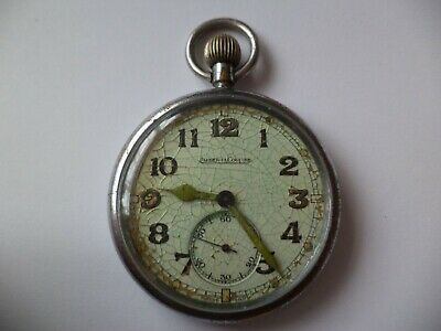 Great Quality Jaeger Le Coultre Ww2 Military Pocket Watch  -Working