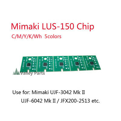 5Colors Mimaki LUS-150 One-time Chip for UJF-3042MkII UJF-6042MkII JFX500 CMYKWh