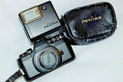 Pentax Auto 110 Miniature Slr Camera And Flash For 110 Film (Case Included)
