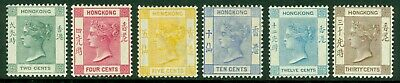 SG 56-61 Hong Kong 1900. 2c-30c. A fresh mounted/lightly mounted mint set...